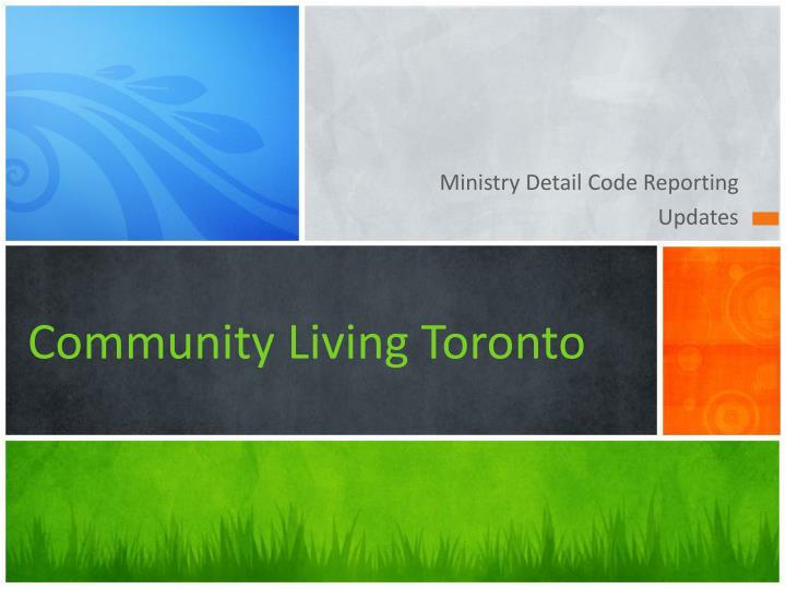 Ministry Detail Code Reporting