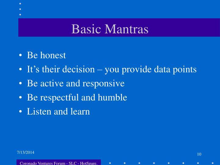 Basic Mantras