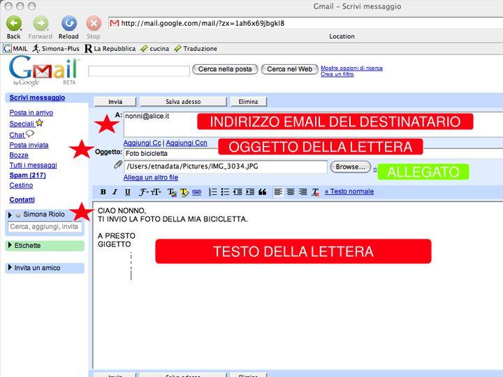 INVIA UNA E-MAIL