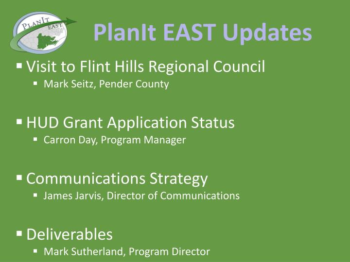 PlanIt EAST Updates