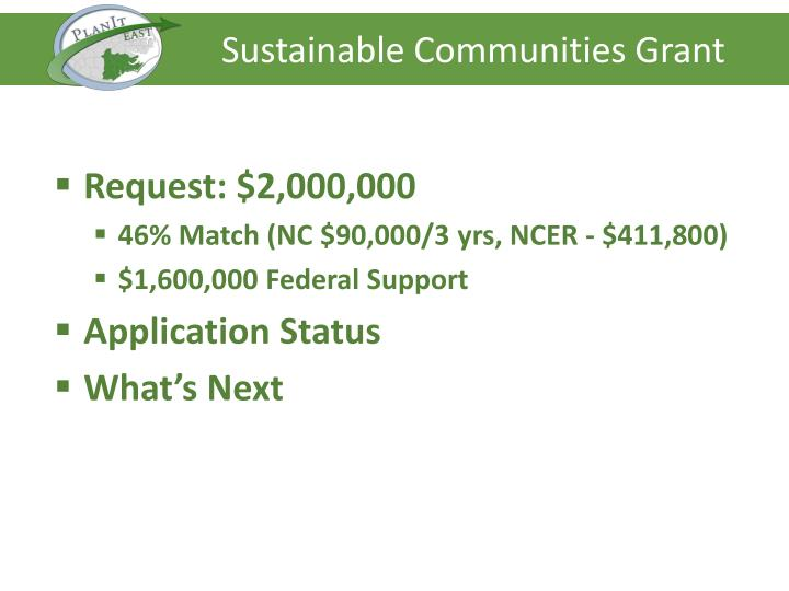 Sustainable Communities Grant