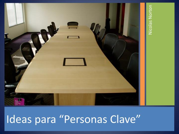 """Ideas para """"Personas Clave"""""""