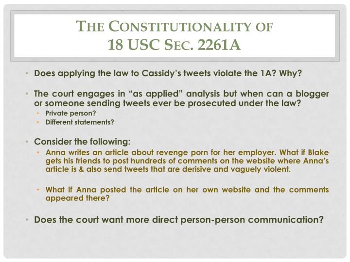 The Constitutionality of