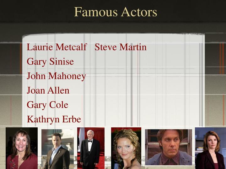 Famous Actors