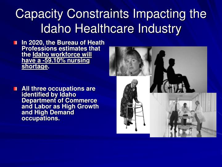 Capacity Constraints Impacting the Idaho Healthcare Industry
