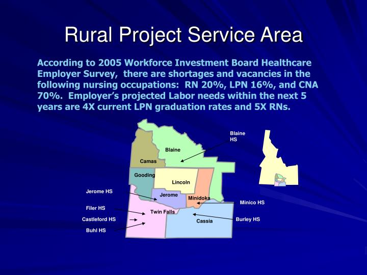 Rural project service area
