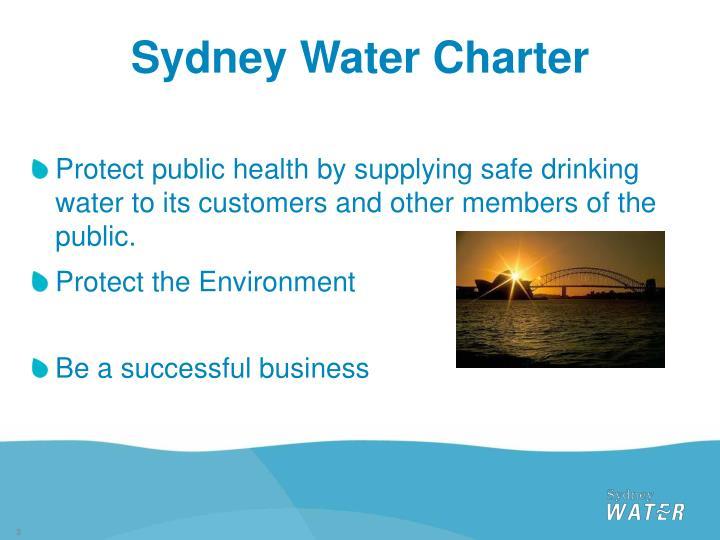 Sydney Water Charter