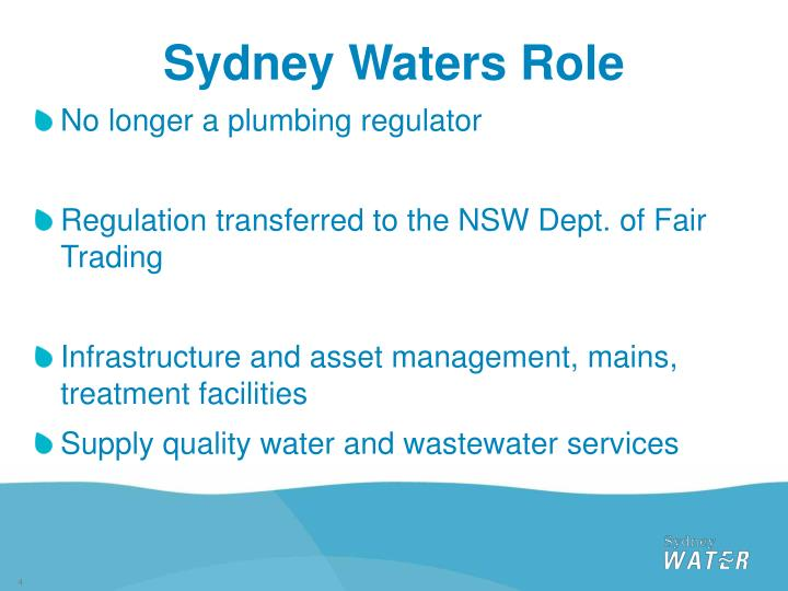 Sydney Waters Role