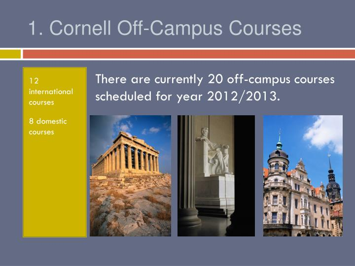 1 cornell off campus courses
