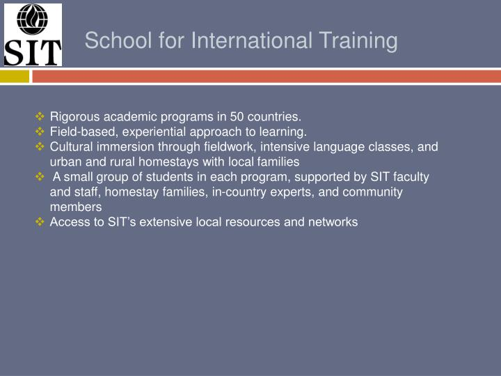 School for International Training