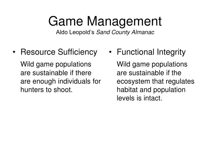 Game Management