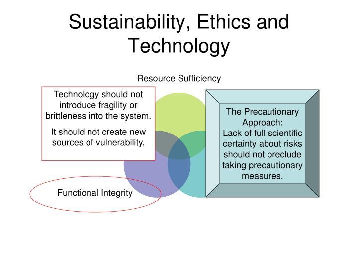 Sustainability, Ethics and Technology
