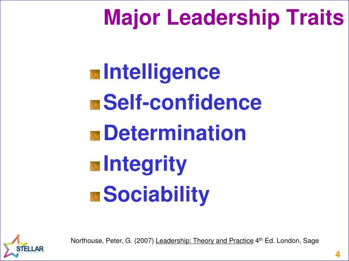 Major Leadership Traits