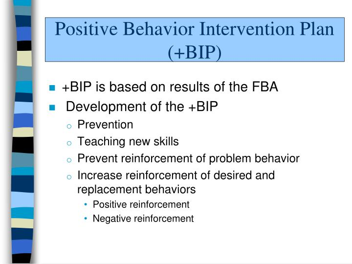 Behavior Intervention Plan Bip Part  Problem Behavior
