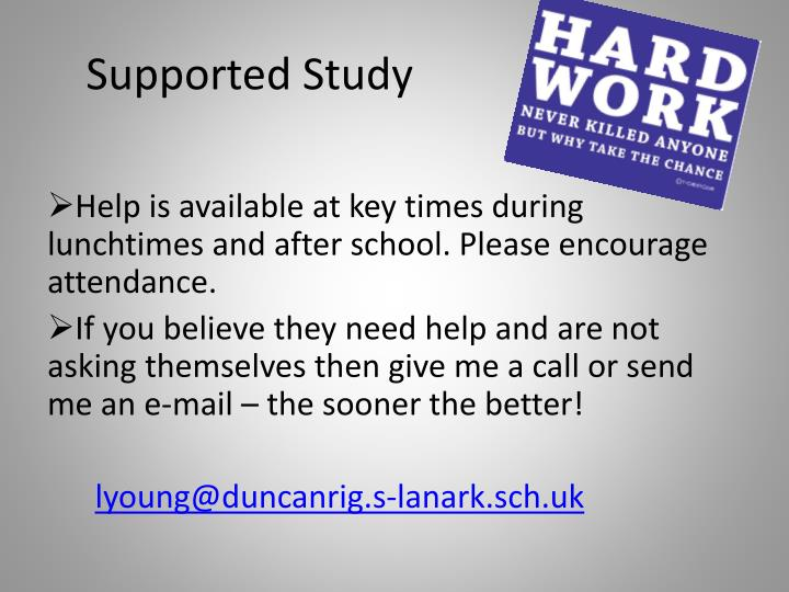 Supported Study
