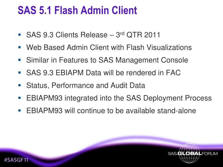 SAS 5.1 Flash Admin Client