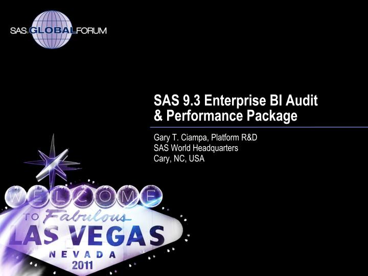 Sas 9 3 enterprise bi audit performance package