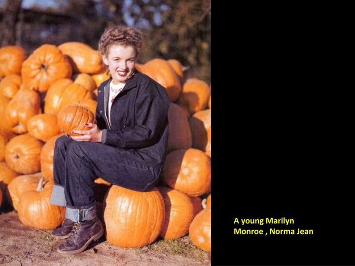 A young Marilyn Monroe , Norma Jean