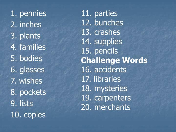 11. parties