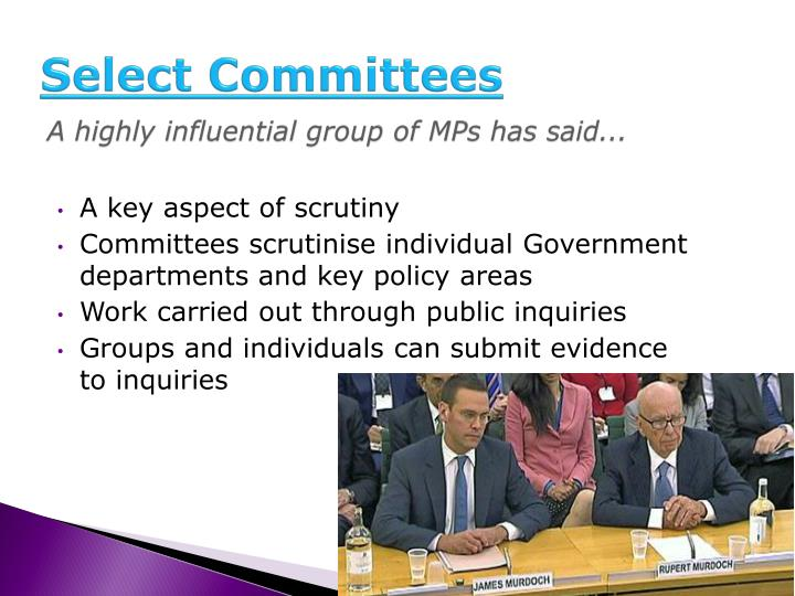 Select Committees