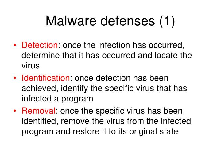 Malware defenses (1)