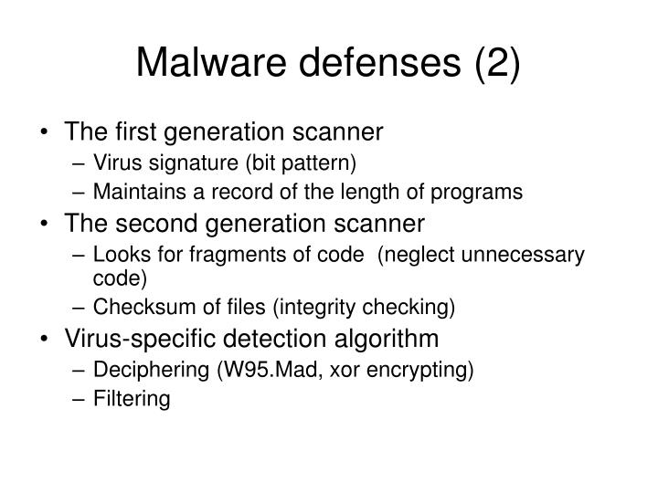 Malware defenses (2)