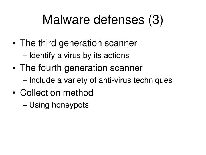 Malware defenses (3)