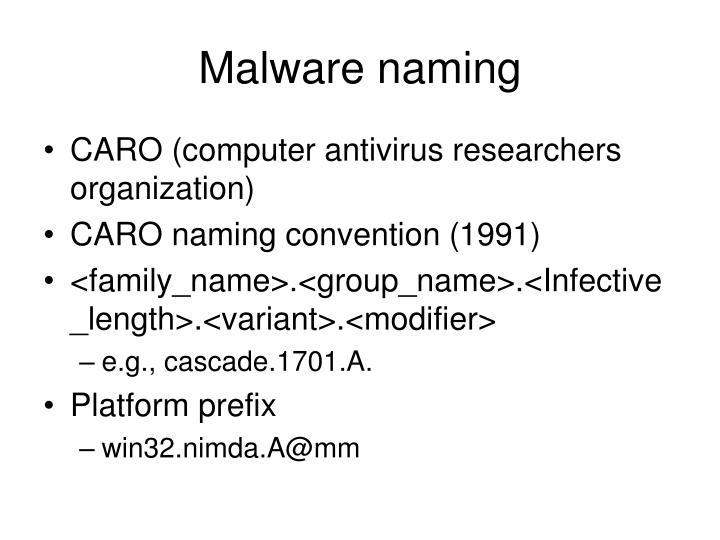Malware naming
