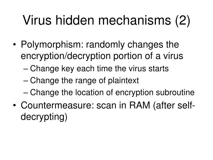 Virus hidden mechanisms (2)