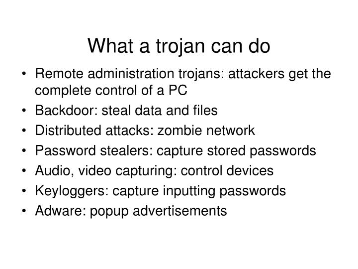 What a trojan can do