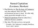 natural capitalism lovinses hawken