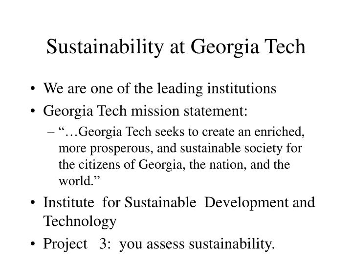 Sustainability at Georgia Tech