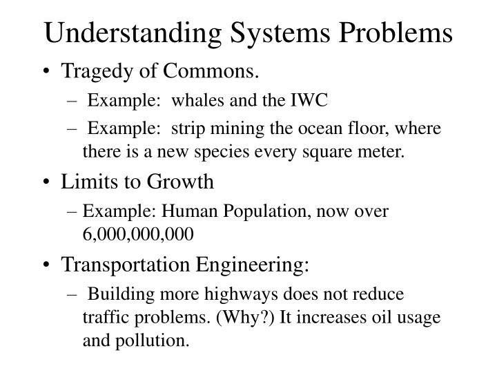Understanding Systems Problems