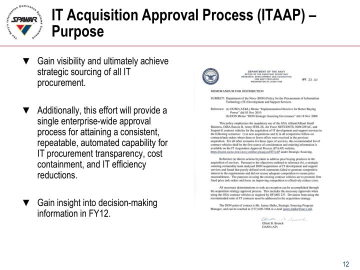IT Acquisition Approval Process (ITAAP) – Purpose