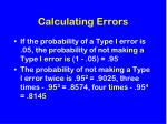 calculating errors