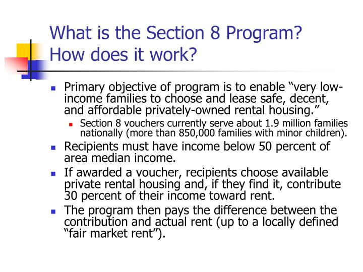 What is the Section 8 Program?