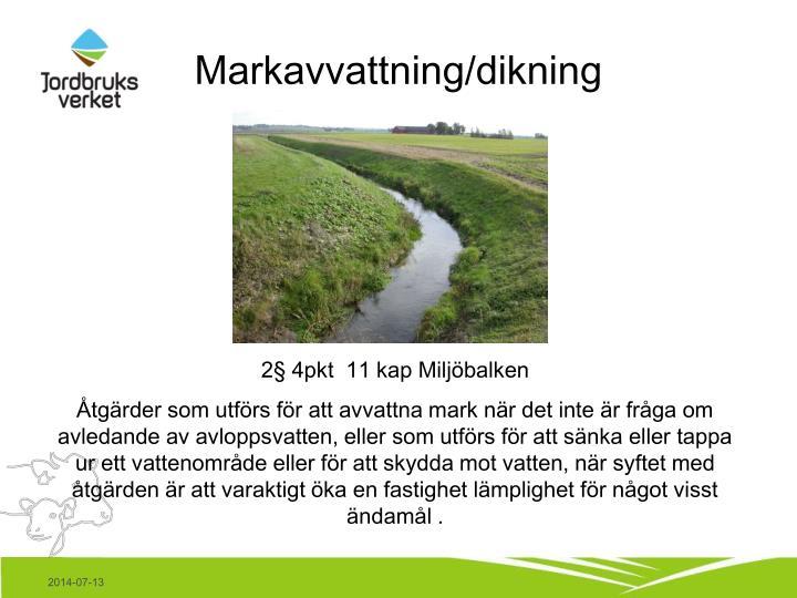 Markavvattning/dikning