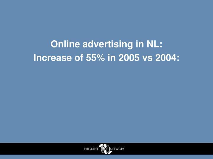 Online advertising in NL: