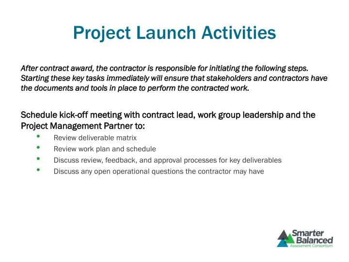 Project Launch Activities