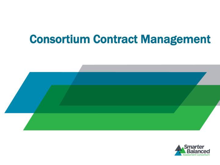 Consortium Contract Management