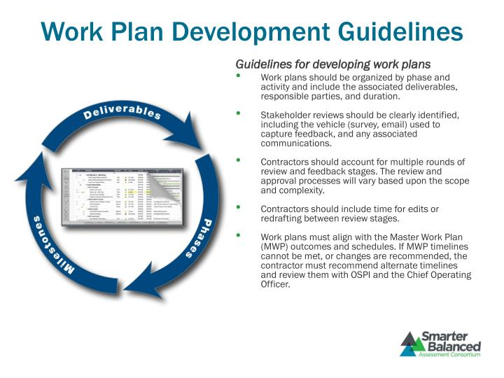 Work Plan Development Guidelines