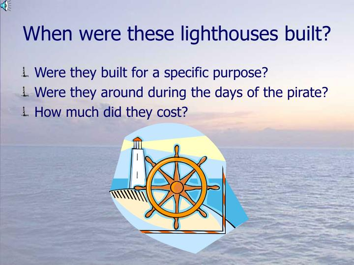 When were these lighthouses built?