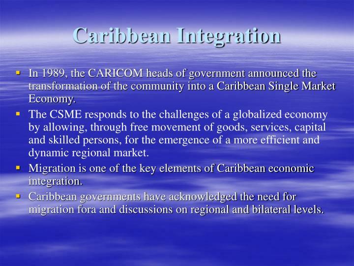 Caribbean Integration