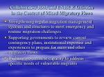 collaborative iom and unhcr activities in the context of mixed migratory flows