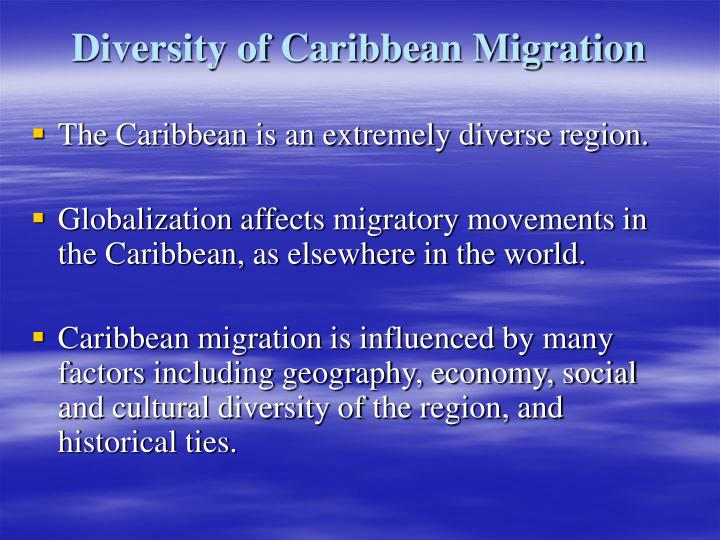 Diversity of caribbean migration