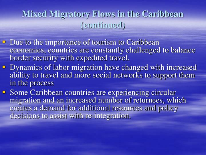 Mixed Migratory Flows in the Caribbean (continued)