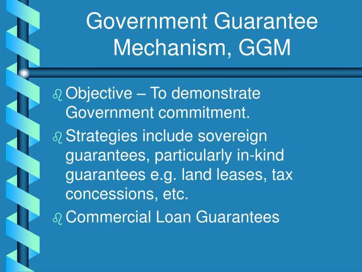 Government Guarantee Mechanism, GGM