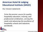 american hotel lodging educational institute ahlei