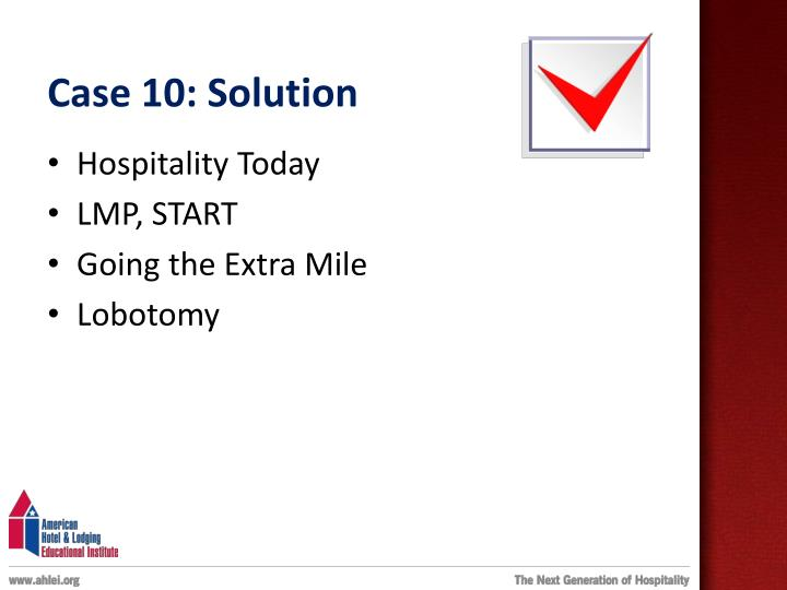 Case 10: Solution