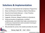 solutions implementation